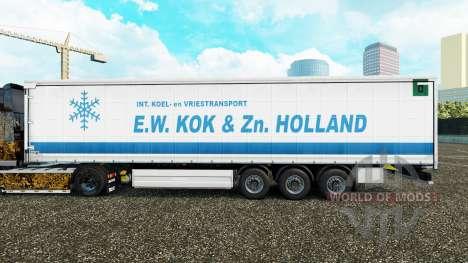 La piel de E. W. Kok & Zn en Holanda cortina sem para Euro Truck Simulator 2