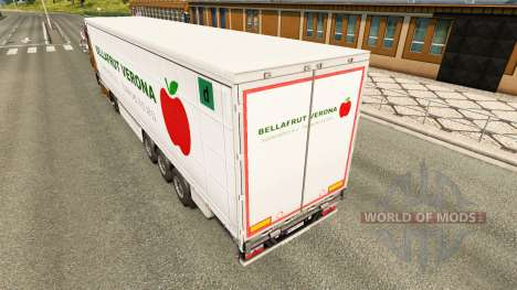 La piel Bellafrut Verona en la cortina semi-remo para Euro Truck Simulator 2