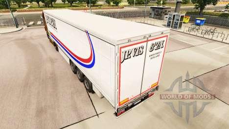 La Piel Jp. Vis & Zn. en una cortina semi-remolq para Euro Truck Simulator 2