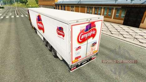 La piel de Campofrio en una cortina semi-remolqu para Euro Truck Simulator 2