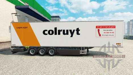 Semi-remolque frigorífico Chereau colruyt nv para Euro Truck Simulator 2