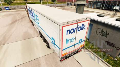 La piel Norfolkline cortina semi-remolque para Euro Truck Simulator 2