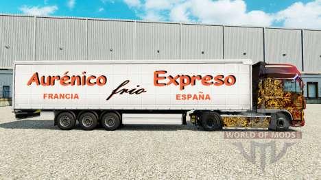La piel Aurenico frio Expreso en una cortina sem para Euro Truck Simulator 2