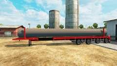 Semi-remolque con una capacidad de carga de las