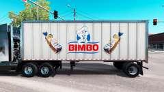 La piel de Bimbo en el metal de remolque