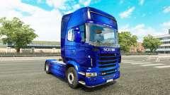 Fantástico Azul de la piel para Scania camión