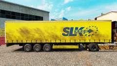 La piel SLK Kock GmbH en una cortina semi-remolq