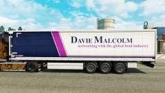 La piel de Davie Malcolm en una cortina semi-rem