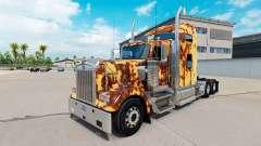 La piel Oxidado en el camión Kenworth W900