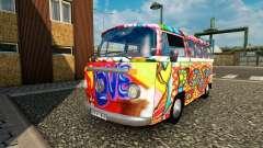 Volkswagen Transporter T2 hippy para el tráfico