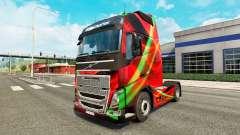 Rojo Efecto de la piel para camiones Volvo
