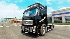La Perla negra de la piel para camiones Volvo