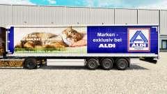 La piel Aldi Markt para la cortina semi-remolque