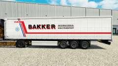 La piel de Bakker en una cortina semi-remolque