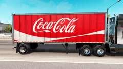 La piel de Coca-Cola de metal semi-remolque