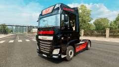 Piel de Gato Negro Trans para el camión DAF