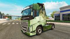 La piel para el camión de Volvo