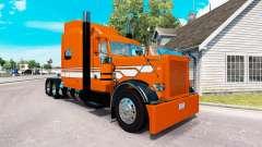 Скин Naranja con Rayas Blancas на Peterbilt 389
