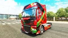Rojo Efecto de la piel para DAF camión