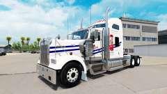 La piel en Tecate camión Kenworth W900
