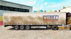 Weller Spedition de la piel en el trailer de la