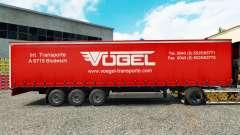 La piel de Vogel en una cortina semi-remolque