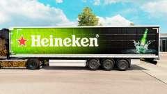 La piel de Heineken para la cortina semi-remolqu