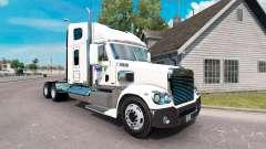 La piel en el FedEx camión Freightliner Coronado