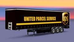 La piel United Parcel Service en una cortina sem