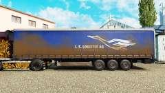 La piel de J. S. Logistik AG en una cortina semi