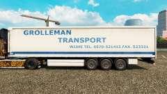 La piel Grolleman de Transporte en semi-remolque