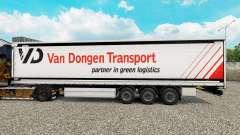 La piel Van Dongen de Transporte semi-remolque d