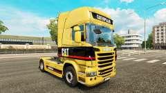 La piel de la Oruga tractor Scania