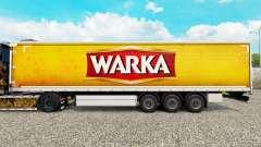 La piel Warka cortina semi-remolque