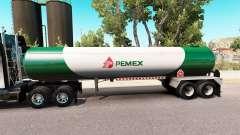 La piel v3 Pemex gas semi-tanque