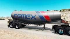 La piel de Cemex a semi-tanque de cemento