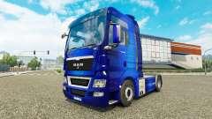 La piel Fantástica Azul tractor HOMBRE
