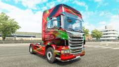 Rojo Efecto de la piel para Scania camión