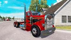 El Rojo y el Negro de la piel para el camión Pet