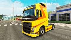 Amarillo de la piel para camiones Volvo