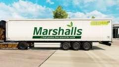 La piel de Marshalls en una cortina semi-remolqu