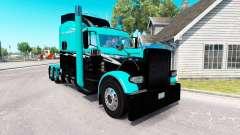 Piel Verde Splash para el camión Peterbilt 389