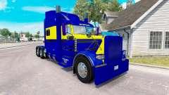 La piel Azul-amarillo para el camión Peterbilt 3