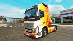 La llama de la piel para camiones Volvo