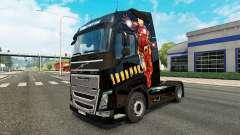 Hombre de hierro de la piel para camiones Volvo