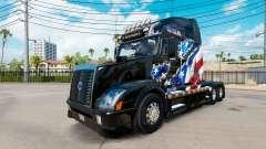 La Bandera americana de la piel para camiones Vo