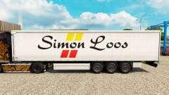 Simon Loos de la piel de la cortina semi-remolqu