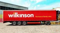 La piel Wilkinson en una cortina semi-remolque