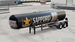 La piel de Sapporo para la semi-tanque
