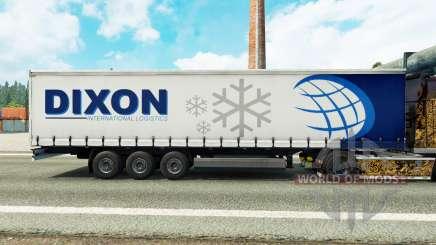 La piel Dixon en una cortina semi-remolque para Euro Truck Simulator 2